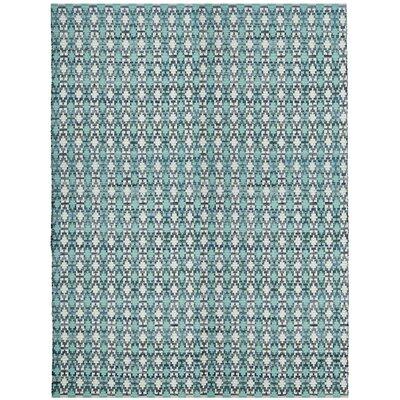 Saleem Hand-Woven Turquoise Area Rug Rug Size: 8 x 10