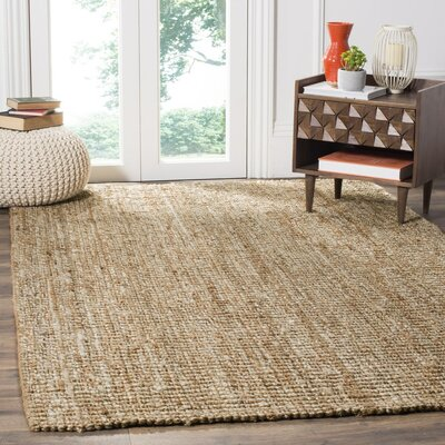 Mandu Hand-Woven Brown Area Rug Rug Size: Runner 26 x 20