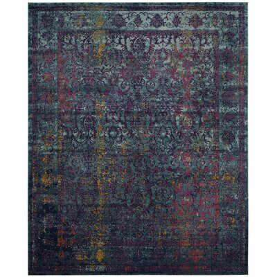 Marian Blue/Yellow Area Rug Rug Size: 8 x 10