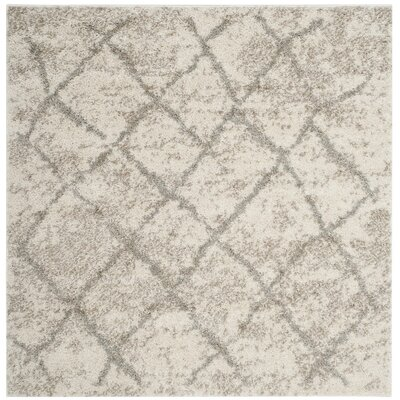 Zettie Cream/Light Gray Area Rug Rug Size: Square 5'1