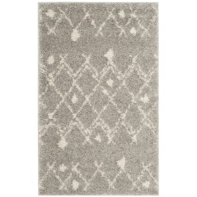 Saira Light Gray/Cream Area Rug Rug Size: Rectangle 51 x 76