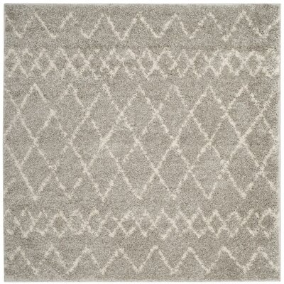 Tourville Light Gray/Cream Area Rug Rug Size: Square 51 x 51