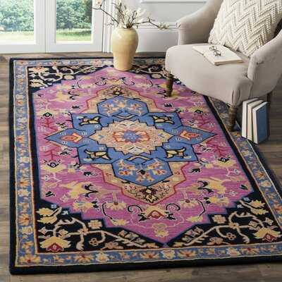 Marco Hand-Tufted Pink Area Rug Rug Size: Rectangle 5 x 8