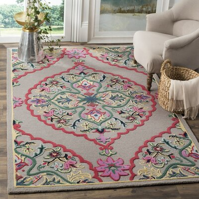 Blokzijl Hand-Tufted Dark Gray Area Rug Rug Size: Square 5 x 5