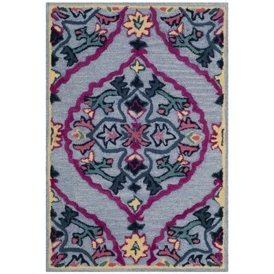 Blokzijl Hand-Tufted Blue Area Rug Rug Size: Rectangle 2 x 3