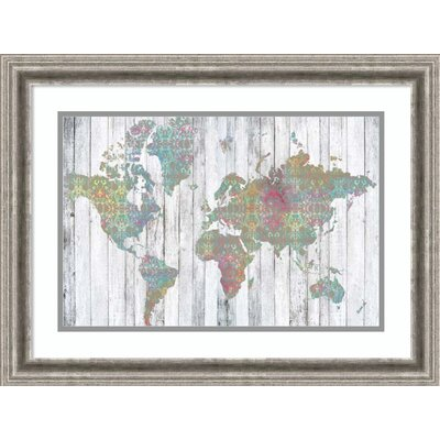 'Boho Map II' Framed Graphic Art Print