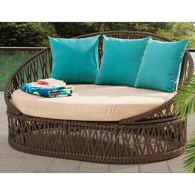 Agawam Daybed with Cushions Color: Turquoise
