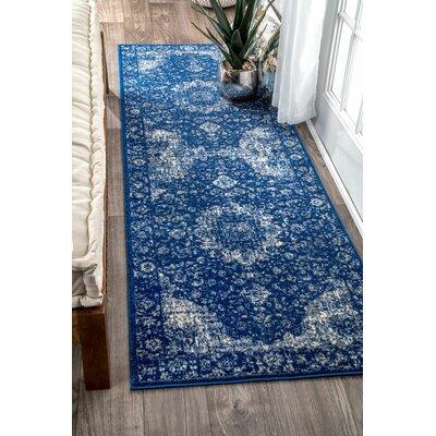 Linden Admiral Blue Area Rug Rug Size: 9 x 12