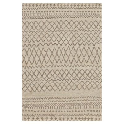 Oliver Hand-Knotted Natural/Ivory Area Rug Rug Size: 4 x 6