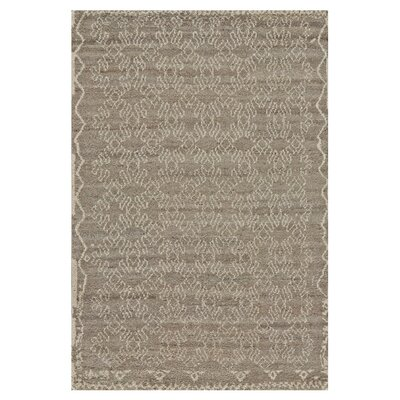 Darcy Hand-Knotted Natural/Graphite Area Rug Rug Size: Rectangle 4 x 6