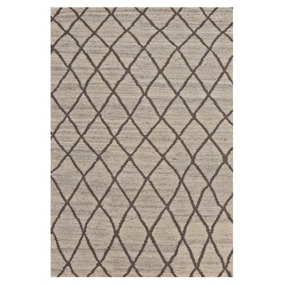 Leonel Hand-Knotted Natural/Linen Area Rug Rug Size: Rectangle 56 x 86