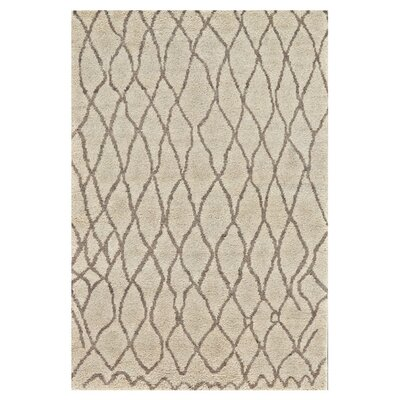Leonel Hand-Knotted Natural/Bone Area Rug Rug Size: Rectangle 4 x 6
