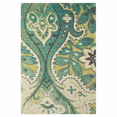 Chase Hand-Loomed Teal/Green Area Rug Size: 5 x 8