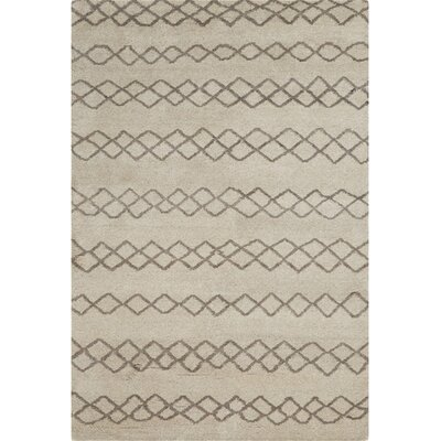 Falmouth Hand-Knotted Natural/Cashmere Area Rug Size: Rectangle 86 x 116