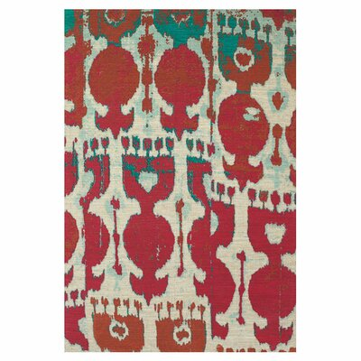 Bridgette Red/Brown Area Rug Rug Size: 5 x 8