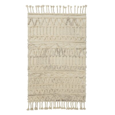 Taylor Hand-Tufted Natural Area Rug Rug Size: 5 x 8