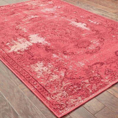 Raiden Garnet Red Area Rug Rug Size: 910 x 1210