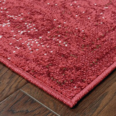 Raiden Garnet Red Area Rug Rug Size: Runner 11 x 76