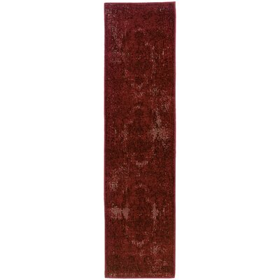Raiden Garnet Red Area Rug Rug Size: Rectangle 310 x 55