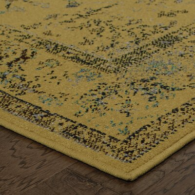 Raiden Gold/Gray Area Rug Size: 110 x 33