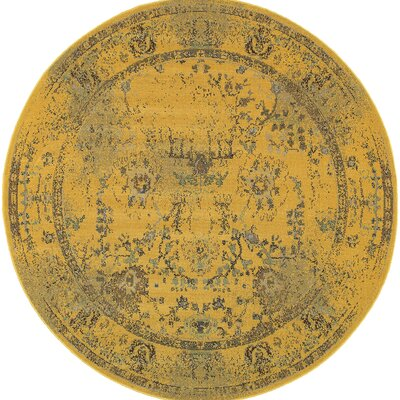 Raiden Gold/Gray Area Rug Size: Rectangle 78 x 78