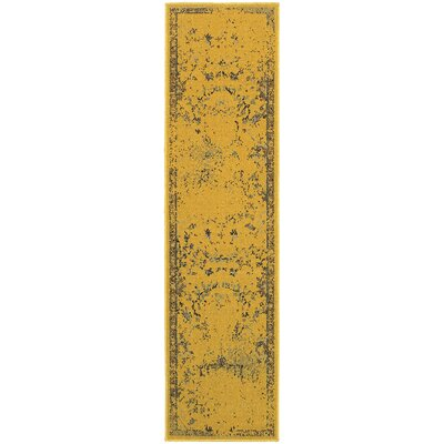 Raiden Gold/Gray Area Rug Size: Rectangle 110 x 76