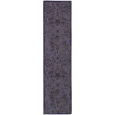 Raiden Purple/Beige Area Rug Rug Size: Runner 110 x 76