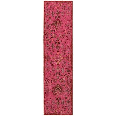 Raiden Pink Area Rug Rug Size: Runner 110 x 76