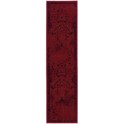 Raiden Red Area Rug Rug Size: Runner 11 x 76