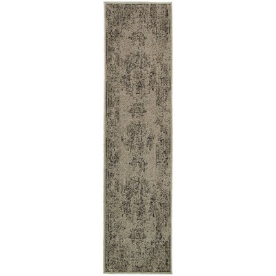 Raiden Gray/Charcoal Area Rug Size: Runner 11 x 76