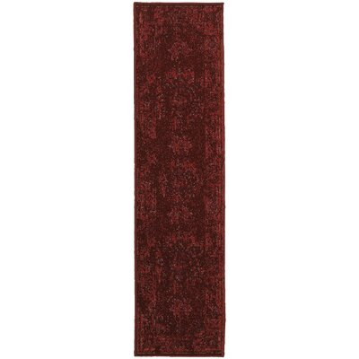 Raiden Overdyed Red Area Rug Rug Size: 310 x 55