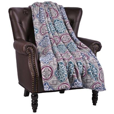 Loganne Microfiber Flannel Blanket Color: Colonial Blue