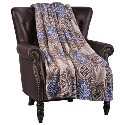 Loganne Microfiber Flannel Blanket Color: Moonlight Blue 2