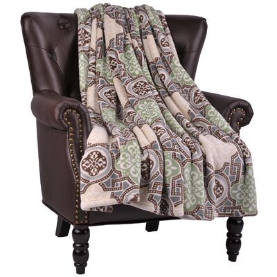 Loganne Microfiber Flannel Blanket Color: Turtle Dove