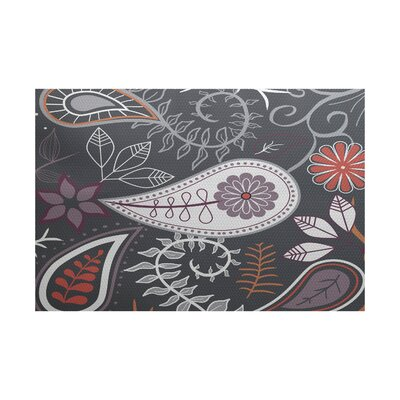 Vinoy Gray Indoor/Outdoor Area Rug Rug Size: 4' x 6'