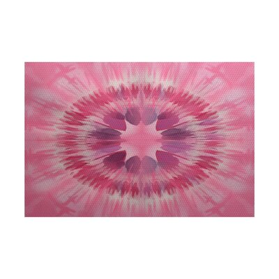 Armstrong Pink Area Rug Rug Size: 5 x 7