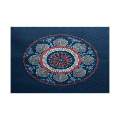 Soluri Navy Blue Indoor/Outdoor Area Rug Rug Size: 2' x 3'