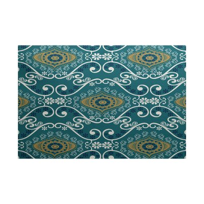 Soluri Blue Indoor/Outdoor Area Rug Rug Size: 2 x 3