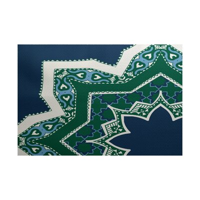 Soluri Navy Blue Indoor/Outdoor Area Rug Rug Size: 4 x 6