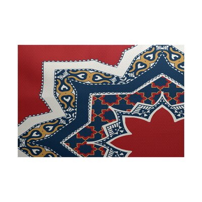 Soluri Red / Blue Indoor/Outdoor Area Rug Rug Size: 4 x 6