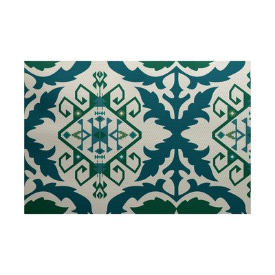 Soluri Teal Indoor/Outdoor Area Rug Rug Size: 3 x 5