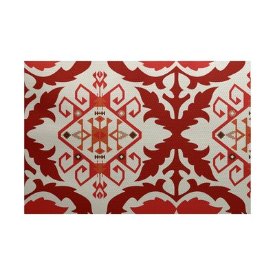 Soluri Orange/Rust Indoor/Outdoor Area Rug Rug Size: 3 x 5
