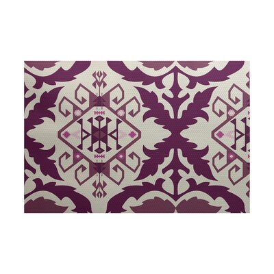 Soluri Purple Indoor/Outdoor Area Rug Rug Size: 2' x 3'