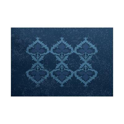 Soluri Navy Blue Indoor/Outdoor Area Rug Rug Size: 3 x 5