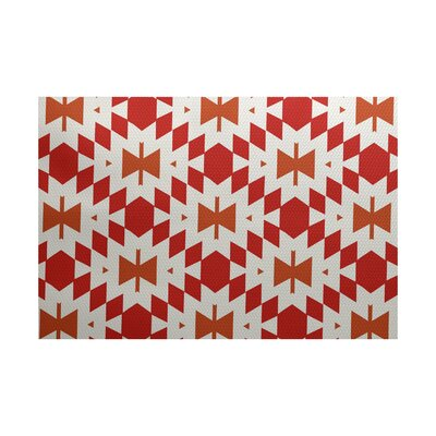 Soluri Orange / Red Indoor/Outdoor Area Rug Rug Size: Rectangle 2 x 3