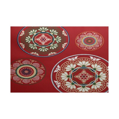 Soluri Red Indoor/Outdoor Area Rug Rug Size: 3 x 5