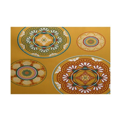 Soluri Gold Indoor/Outdoor Area Rug Rug Size: 2 x 3