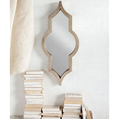 Irregular Wall Mirror Color: Semi-Metallic Natural