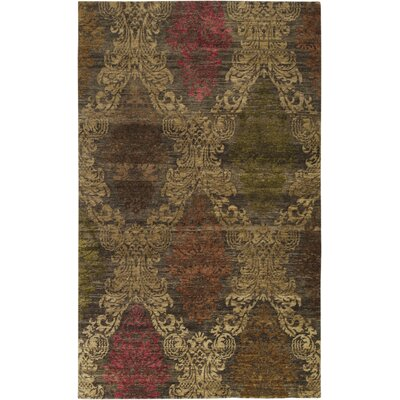 Urrutia Hand-Knotted Brown Area Rug Rug Size: Rectangle 2 x 3