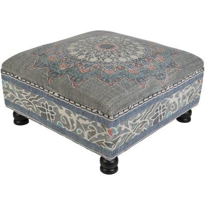 Simone Ottoman Upholstery: Blue/Pink